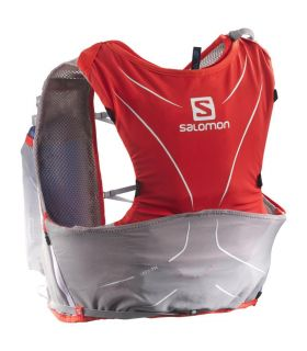 Mochila trail running Salomon S-Lab Advanced Skin 3 5 Set ROJA