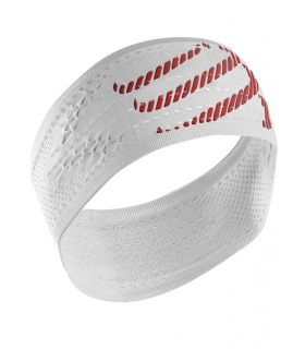 Banda Compressport Headband On/Of Blanco