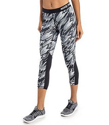 Mallas Running Nike Pro Overdrive Gris Mujer