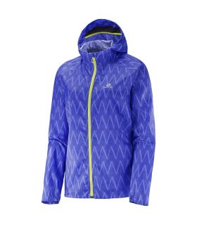 Chaqueta running Salomon Fast Wing Graphic Hoodie Mujer