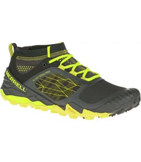 Zapatillas Trail running Merrell All Out Terra Trail Hombre Negro Amarillo