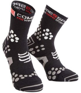 Calcetines Compressport Winter Trail Unisex Negro