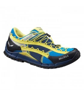 Zapatillas trekking Salewa Ms Speed Ascent Hombre Azul Amarillo