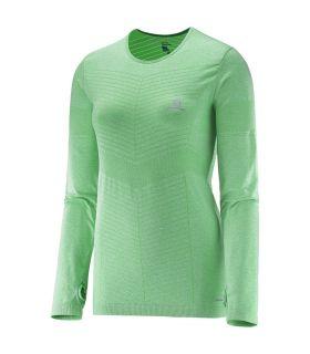 Camiseta running Salomon Elevate Seamless LS Tee Mujer
