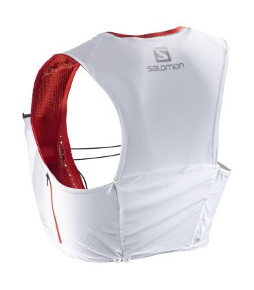 Mochila trail running Salomon S-Lab Sense Ultra 5 Set Blanco