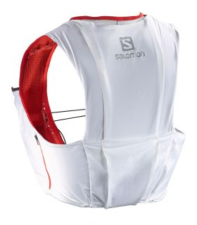 Mochila trail running Salomon S-Lab Sense Ultra 8 Set Blanco