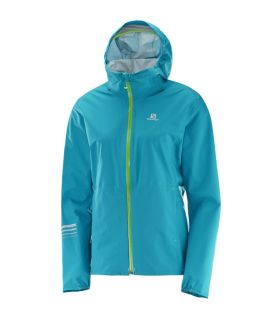 Chaqueta trail running Salomon Lightning Wp Mujer Azul