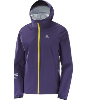 Chaqueta trail running Salomon Lightning Wp Mujer Morado