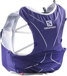 Mochila trail running Salomon Adv Skin 5 Set Morado