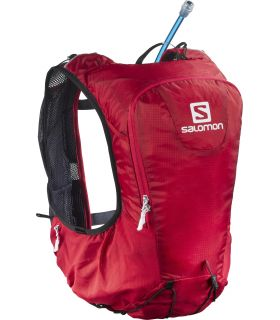 Mochila trail running Salomon SKIN PRO 10 SET Rojo