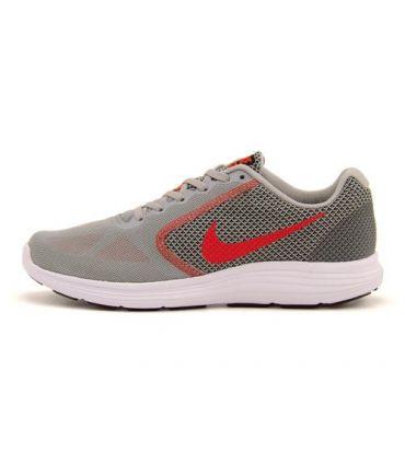 Zapatillas Running Nike Revolution 3 Hombre Gris Rojo