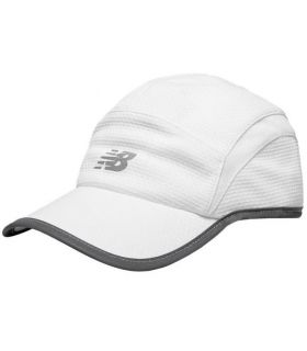 Gorra New Balance 5 Panel Performance Blanco. Oferta y Comprar online