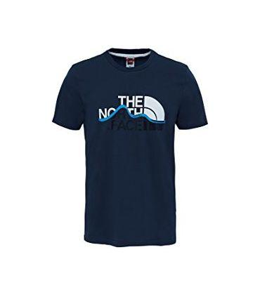 Camiseta de Trekking The North Face S/S Mnt Line Tee Hombre Navy