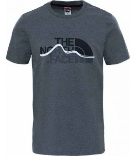 Camiseta The North Face Mountain Line Hombre Gris