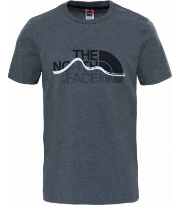 Camiseta de Trekking The North Face S/S Mnt Line Tee Hombre Gris