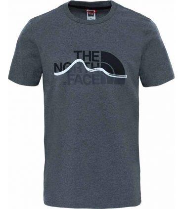 Camiseta de Trekking The North Face S/S Mnt Line Tee Hombre Gris