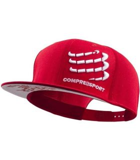 Gorra Compressport Flat Cap Rojo
