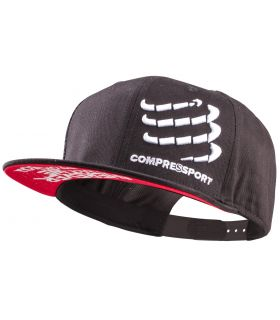 Gorra Compressport Flat Cap Negro
