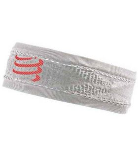 Banda Compressport Thin Headband On/Of Blanco