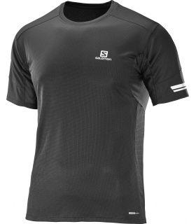 Camiseta running Salomon Agile SS Hombre Negro