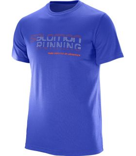 Camiseta Salomon Running Graphic Tee Hombre Azul