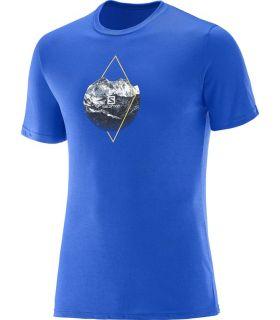 Camiseta Salomon X Alp Graphic SS Tee Hombre Azul
