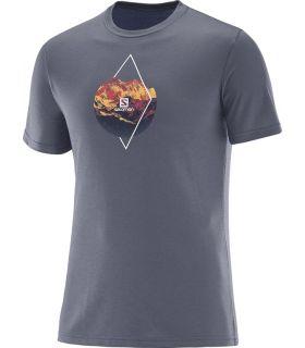 Camiseta Salomon X Alp Graphic SS Tee Hombre Gris