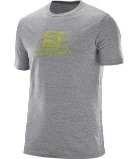 Camiseta Salomon Blend Logo SS Tee Hombre Gris