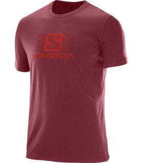 Camiseta Salomon Blend Logo SS Tee Hombre Rojo