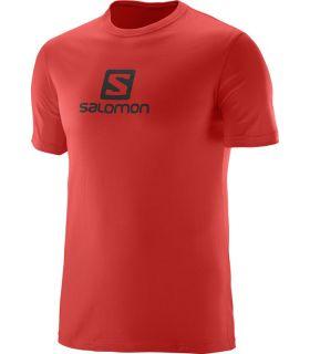 Camiseta Salomon Coton Logo SS Tee Hombre Rojo