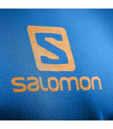 Camiseta Salomon Coton Logo SS Tee Hombre Azul