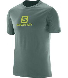 Camiseta Salomon Coton Logo SS Tee Hombre Verde
