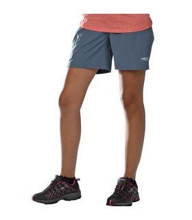 Pantalones Cortos Senderismo +8000 Tremaya Mujer Gris Azulado