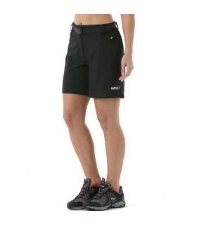Pantalones Cortos Senderismo +8000 Tremaya Mujer Negro Rosa