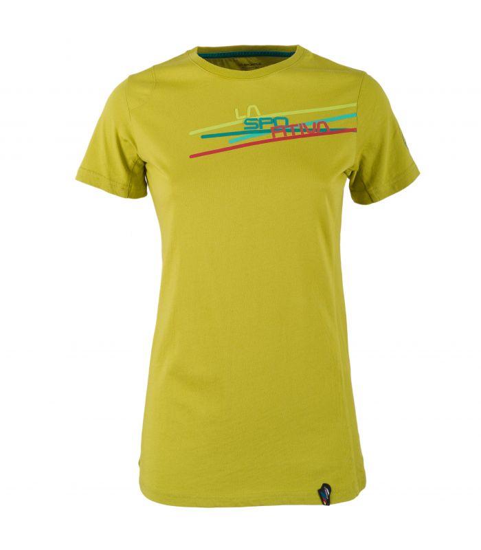 Compra online Camiseta La Sportiva Stripe 2.0 Mujer Amarillo en oferta al mejor precio