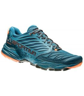 Zapatillas trail running La Sportiva Akasha Hombre Azul Naranja