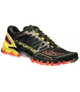 Zapatillas trail running La Sportiva Bushido Hombre Negro Amarillo