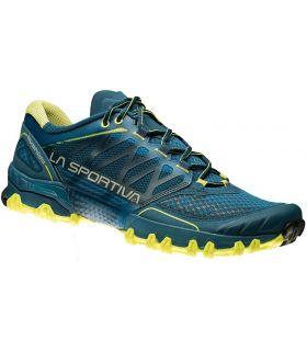Zapatillas trail running La Sportiva Bushido Azul Verde