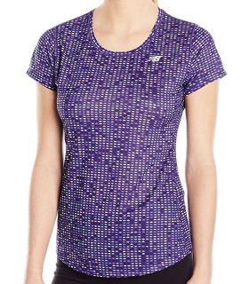 Camiseta New Balance Accelerate Short Sleeve Graphic Mujer Morado
