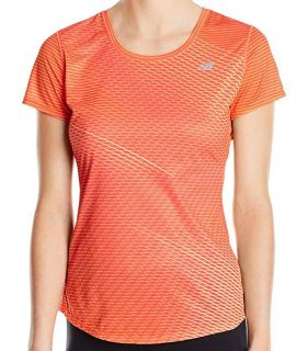 Camiseta New Balance Accelerate Short Sleeve Graphic Mujer Naranja