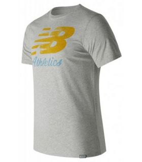 Camiseta New Balance Flying Scrips Tee Hombre Gris