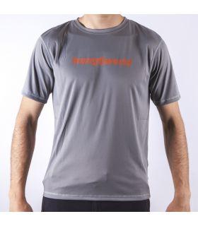 Camiseta Trangoworld Omiz Hombre Gris Naranja