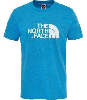Camiseta de trekking The North Face Easy Tee Hombre Azul Blanco