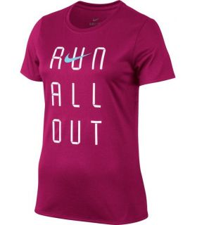 Camiseta Técnica Nike Dry Tee Legend Run Out Mujer Rosa