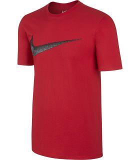 Camiseta Nike Tee Hangtag Swoosh Hombre Rojo