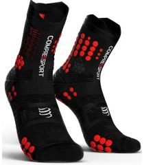 Calcetines Trail Running Compressport Pro Racing Socks V3.0 Negro Rojo