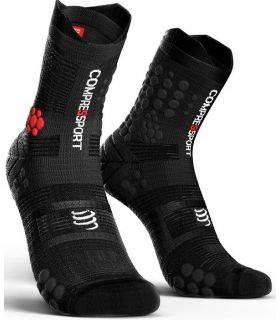Calcetines Trail Running Compressport Pro Racing Socks V3.0 Negro Gris. Oferta y Comprar online