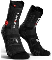 Calcetines Trail Running Compressport Pro Racing Socks V3.0 Negro Gris