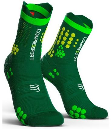 Calcetines Trail Running Compressport Pro Racing Socks V3.0 Verde
