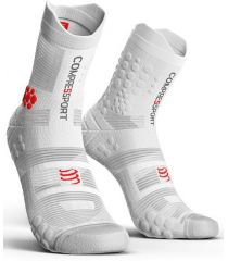 Calcetines Trail Running Compressport Pro Racing Socks V3.0 Blanco